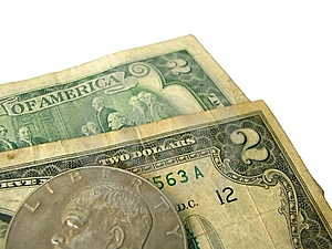 Couple O Two Dollar Banknotes Stock Photography - Image: 6171162