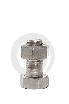 Bolt With Nut Stock Photos - Image: 6171293