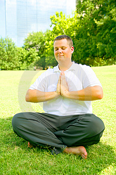Young Man Meditate Outdoor Stock Images - Image: 6172294