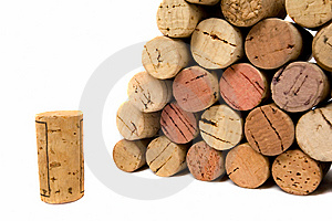 Wine Corks Over White Royalty Free Stock Photos - Image: 6172808
