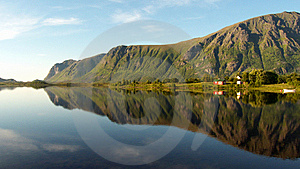 Lofoten's Cape Mirroring Stock Photos - Image: 6176203