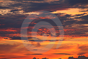 Sundown Stock Image - Image: 6176991
