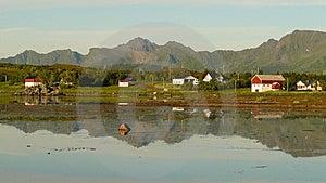 Nuit D'été De Lofoten Images libres de droits - Image: 6177359