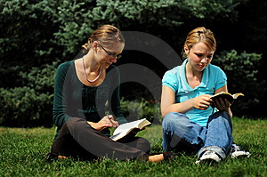 Students Reading Stock Photos