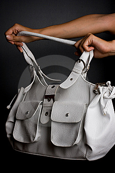Womanish Bag Is In Hands Stock Photo - Image: 6183840
