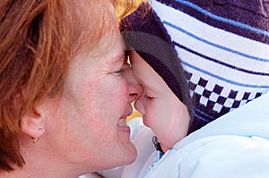 Family Moments - Mother And Baby Have A Fun Stock Photos - Image: 6184753