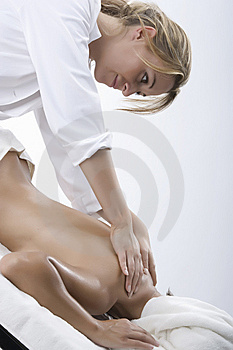 Woman in a day spa Free Stock Photography