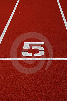Running Track Number Stock Image - Image: 6187781