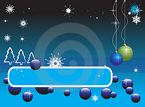 Banner With Christmas Balls Stock Photos - Image: 6188373