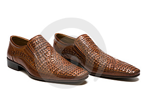 Brown Low Shoes Stock Image - Image: 6189111
