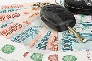 Car Keys And Money Royalty Free Stock Photography - Image: 6189547