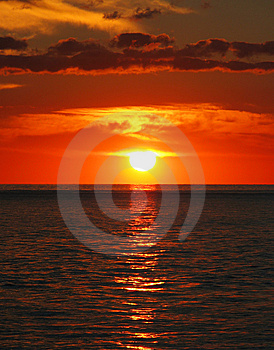 Sunset At River 3 Royalty Free Stock Photo - Image: 6190265
