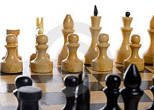 Close-up Chess Beginning Stock Photo - Image: 6190900