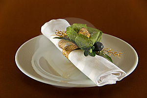 Napkin With Sweet Royalty Free Stock Images - Image: 6194189