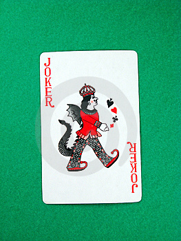Joker Fun Poker Gambling Lucky Card Stock Image - Image: 6194591