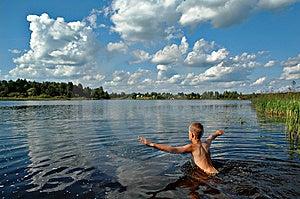 boy swimming river - photo #15
