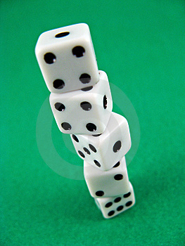 Gamble Casino Cubes Royalty Free Stock Images - Image: 6195399
