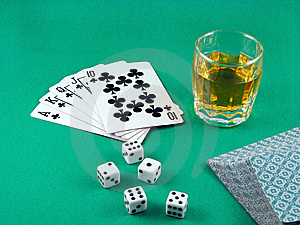 Ace Card Poker Gambling Royalty Free Stock Images - Image: 6195409