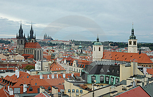 View Of Prague In Overcast Day Stock Images - Image: 6196914