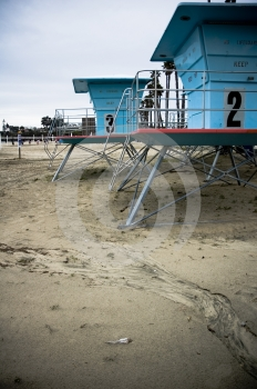 Lifeguard Houses Stock Photo - Image: 624030