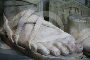 Stone Foot Royalty Free Stock Image - Image: 624106