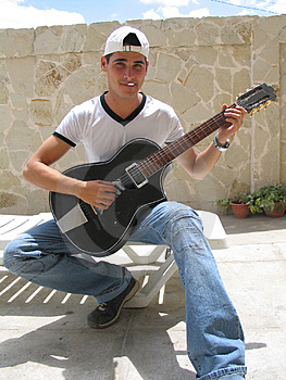 Teenage Playing Guitar Stock Photos - Image: 624153