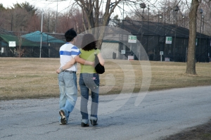 Walking Along In The Park Stock Photography - Image: 624582