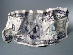 Hundra Dollar Arkivbild - Bild: 625342