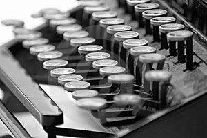 Vintage typewriter 2 Free Stock Images