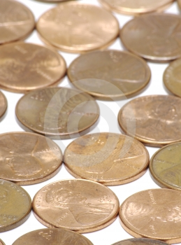 Vertical Pennies Background Royalty Free Stock Photo - Image: 628395