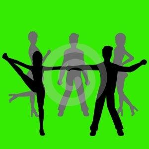 Na zelenom pozadí - ďalšie ai a eps formáte k dispozícii na