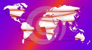 Map or globe world wide web Stock Photography