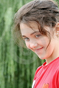 Smiling Teen Girl 2 Stock Image. Download for free
