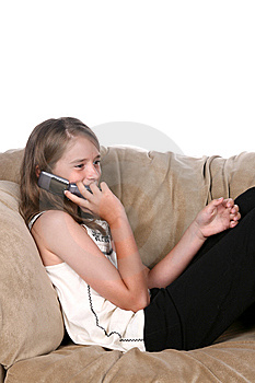 Girl On Phone Royalty Free Stock Photography - Image: 6201177