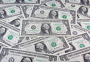 US dollar cash background