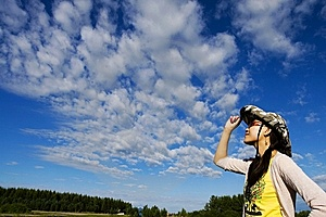 A Girl Enjoying The Sun Stock Images - Image: 6206724