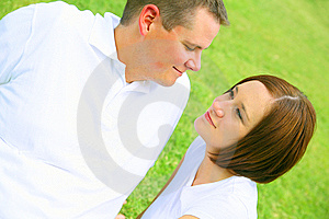 Romantic Moment At Park Royalty Free Stock Image - Image: 6207456