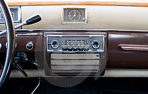 Clase View Of An Ancient Dashboard Royalty Free Stock Image - Image: 6208346