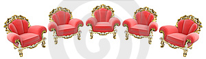 King Armchairs Royalty Free Stock Images - Image: 6209189