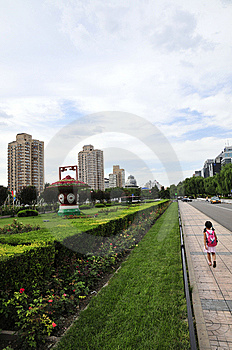 Girl In City Royalty Free Stock Image - Image: 6214936