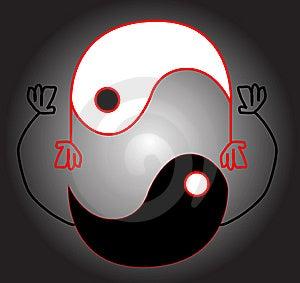 Yin Yang Smile Stock Image - Image: 6219461