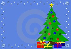 Christmas Tree Blue Background Royalty Free Stock Photo - Image: 6219785
