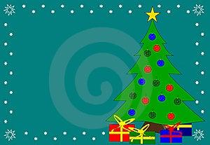 Christmas Tree Green Background Stock Photo - Image: 6219790