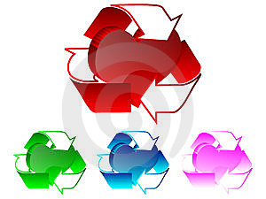 3d Recycle Heart Illustration Royalty Free Stock Images - Image: 6220139