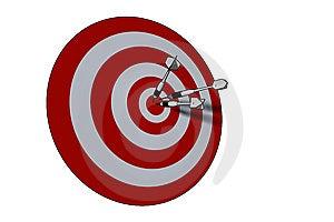 Bullseye Royalty-vrije Stock Foto's