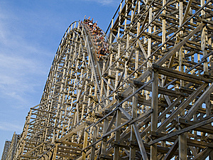 Old Fashion Roller Coaster Stock Photos - Image: 6222543