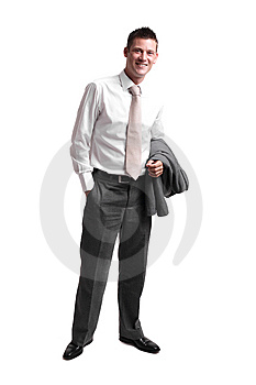 Young businessman after work