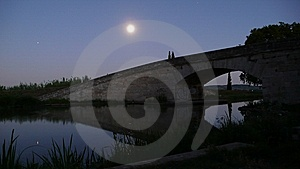 Bridge In The Moonlight Royalty Free Stock Photos - Image: 6226718