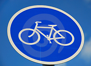 Bicycle Road Sign Stock Photos - Image: 6229343