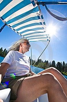 Woman Boating Royalty Free Stock Photos - Image: 6230578